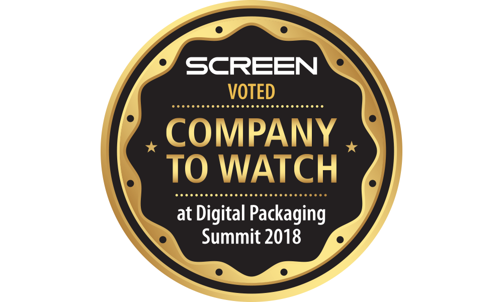 SCREEN Americas production inkjet business burgeons as it garners Company to Watch award at Digital Packaging Summit 2018.