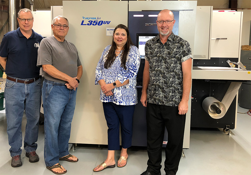 SCREEN's Truepress Jet L350UV Passes Ample Industries' Print Test with Flying Colors: Versatile UV Inkjet Label Press Positions 50-year Label Leader for Future Growth