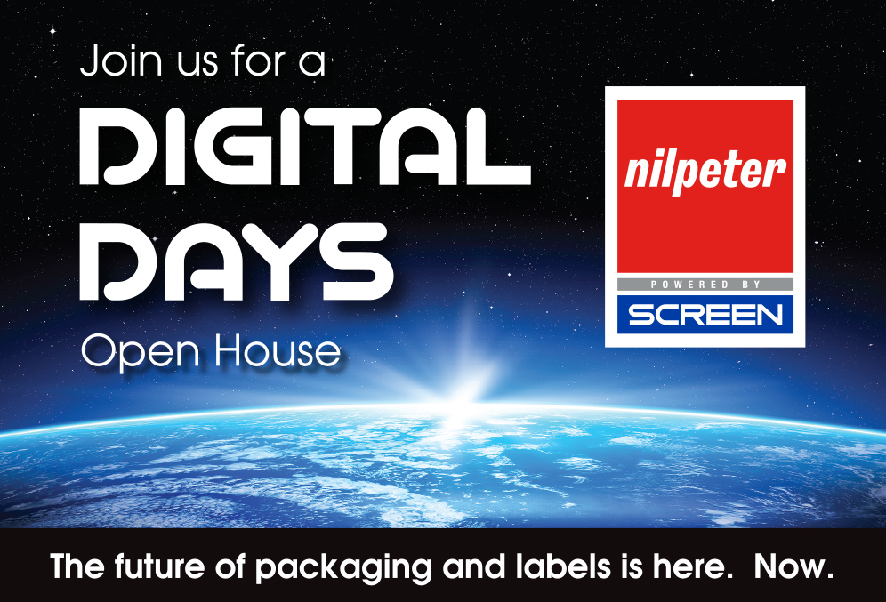 Nilpeter and SCREEN to host 'DIGITAL DAYS' Open House, June 13, showcasing the combined Flexo-Digital expertise of the two companies' new partnership.