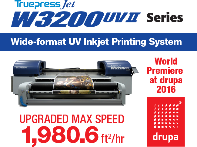 Truepress Jet W3200UV Mark II Debuts at drupa 2016