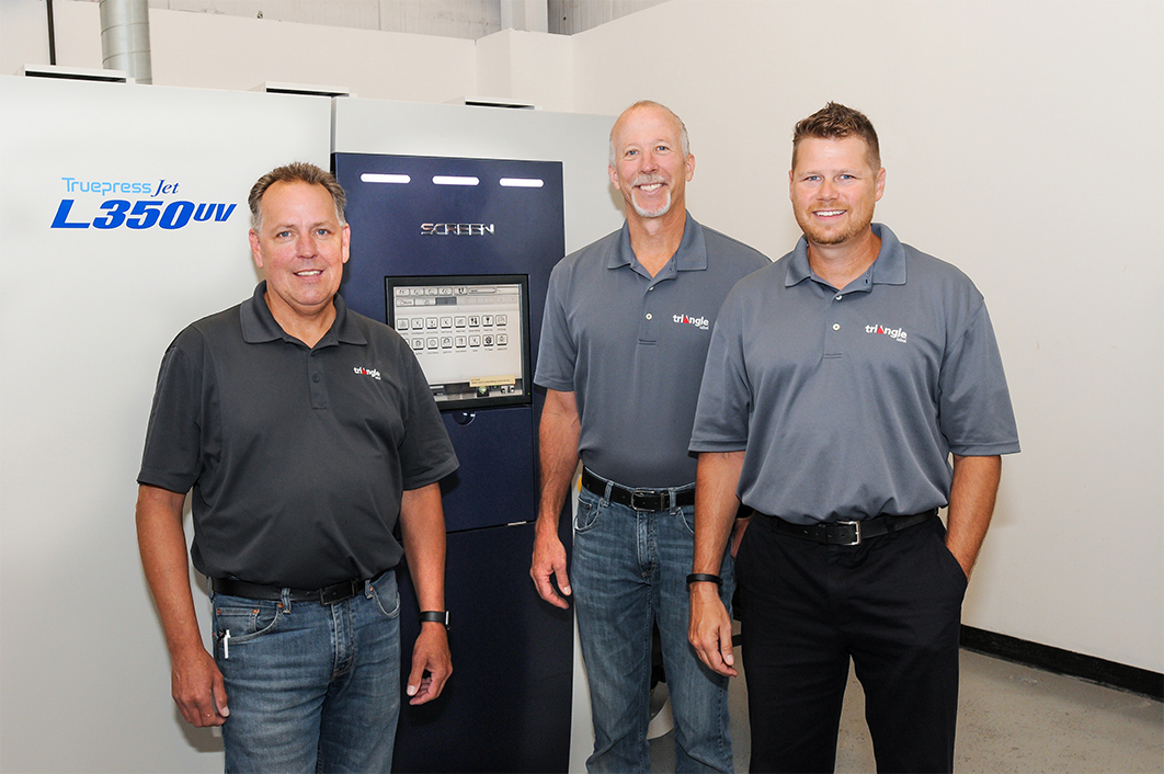 (From left) Scott Kneer, Operations Manager; Tom Hagedorn, Plant Manager; and Jaime Balent, Director of Sales