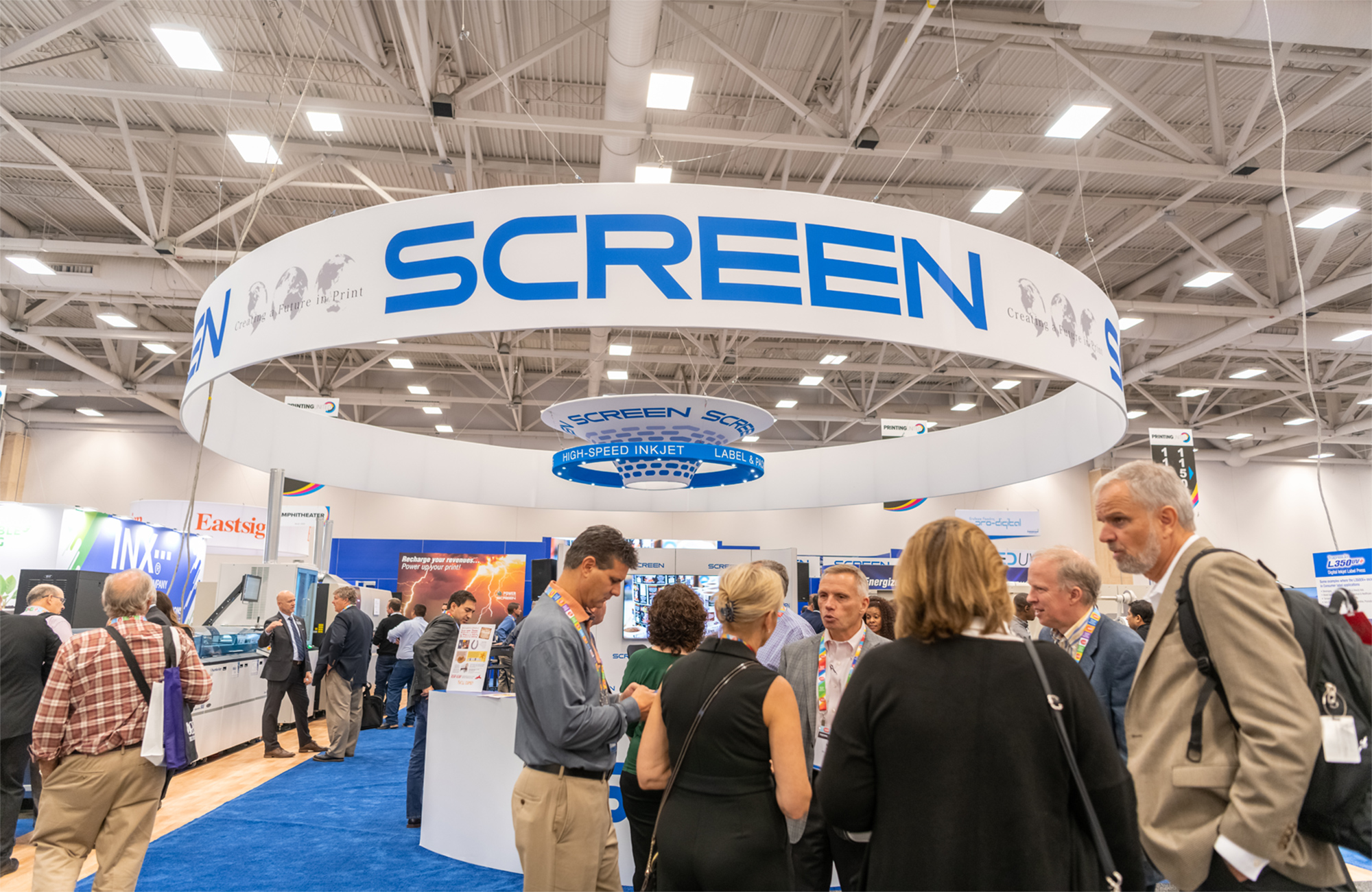 1500, 1501, 1502, 1503… SCREEN Truepress Jet520 inkjet engines and counting, all celebrated at the inaugural Printing United show