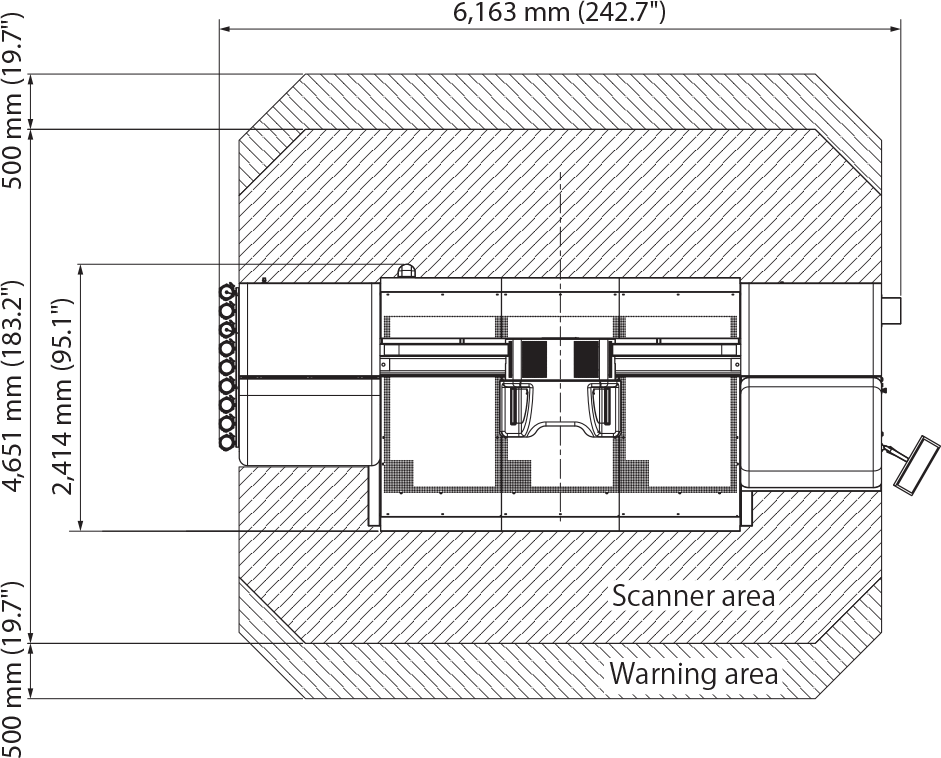 Truepress Jet W3200UV ST floor area schematic