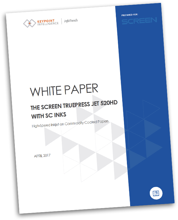 Truepress Jet520HD with SC Inks White Paper