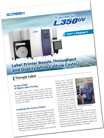 Truepress Jet L350UV User Report: Triangle Label